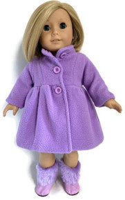 Fully Lined Fleece Coat-Lavender