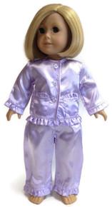 Satin Pajamas-Lavender