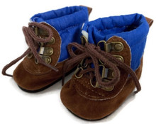 Brown & Blue Hiking Boots