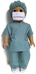 4 pc Green Hospital Scrub Set