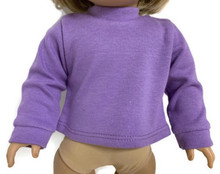 Long Sleeved Knit Shirt-Purple