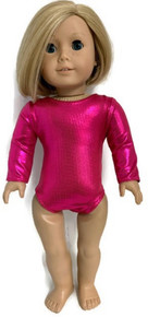 Metallic Leotard-Hot Pink