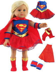 Super Girl Set with Boots Set Halloween