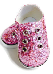 3 Pairs Sequin Slip On Sneakers-Pink