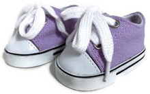 Low Top Canvas Sneakers-Lavender