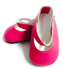 3 pairs Mary Janes-Bright Pink