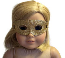 12 Halloween Masks-Gold Glitter