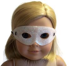 12 Halloween Masks-Pearl White Glitter