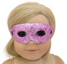 12 Halloween Masks-Pink Glitter