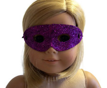 12 Halloween Masks-Purple Glitter