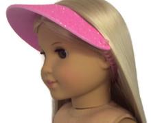 6 Visors-Pink Glitter