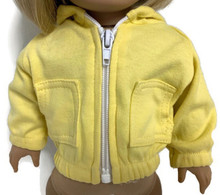 Hooded Knit Jacket-Yellow
