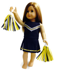 3 Cheerleader Outfits-Navy