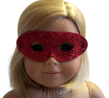 12 Halloween Masks-Red Glitter