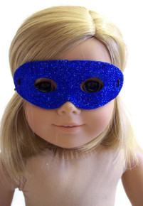 12 Halloween Masks-Royal Blue Glitter