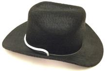 3 Cowboy Hats-Black