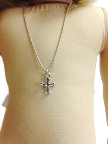 3 Cross Necklaces-Silver
