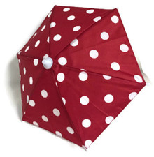 3 Umbrellas-Red with White Polka Dots