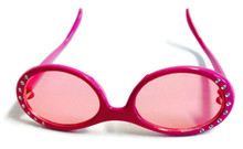 6 pair Sunglasses-Pink with Rhinestones
