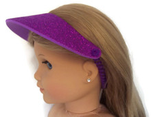 6 Visors-Purple Glitter