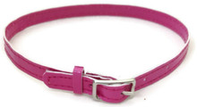 6 Belts with Silver Buckle-Pink