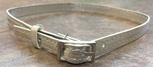 6 Belts with Silver Buckle-Silver