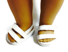 3 pair of Sandals-White