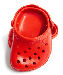 3 pair of Crocs-Red