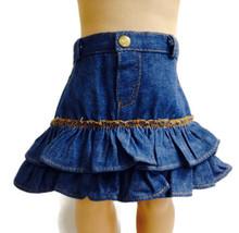 3 pairs of  Denim Ruffled Jean Skirt