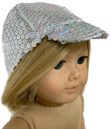 Silver Sequin Ball Cap