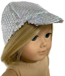 3 Silver Sequin Ball Caps