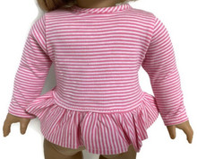 3 Striped Long Sleeved Top-Pink & White