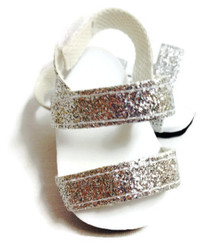 3 pair of Glitter Sandals-Silver