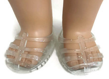 3 pair of Jellies with Glitter-Clear