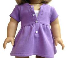 3 of Short Sleeved Trendy Top-Purple