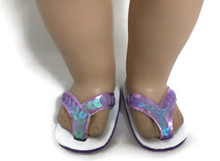 3 pairs of Sequined Flip Flop Sandals-Lavender