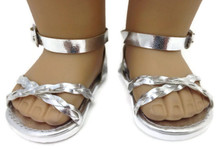 3 pairs of Silver Braided Sandals