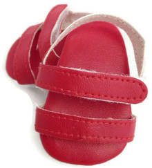 3 pair of Sandals-Red