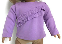 3 of Long Sleeved Knit Shirt with Ruffles-Lavender
