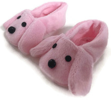 3 pair of Slippers-Pink Puppy Dog