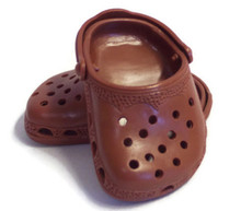 3 pair of Crocs -Brown