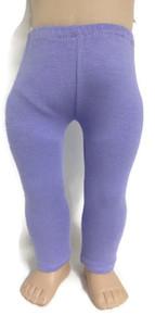 3 of Knit Leggings-Lavender