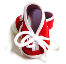 3 pair of Canvas Tennis Shoes-Red