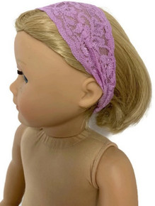 6 of Stretchy Lace Headband-Lavender