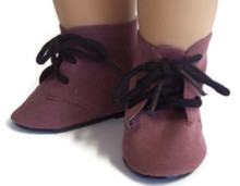 3 pair of Tie Boots-Brown Suede