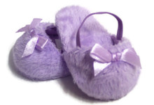3 pair of Mule Slippers with Bow-Lavender