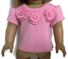 3 of Pink Short Sleeved Shirt with Flowers