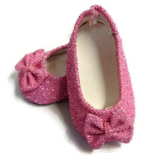 3 pairof Sparkle Bow Shoes-Pink