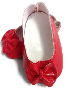 3 pair of Bow Shoes-Red