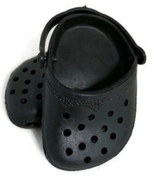 3 pair of Crocs-Black